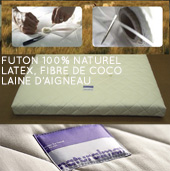 Futon bio 100% naturel Latex et Fibre de Coco - NATURAL FUTON